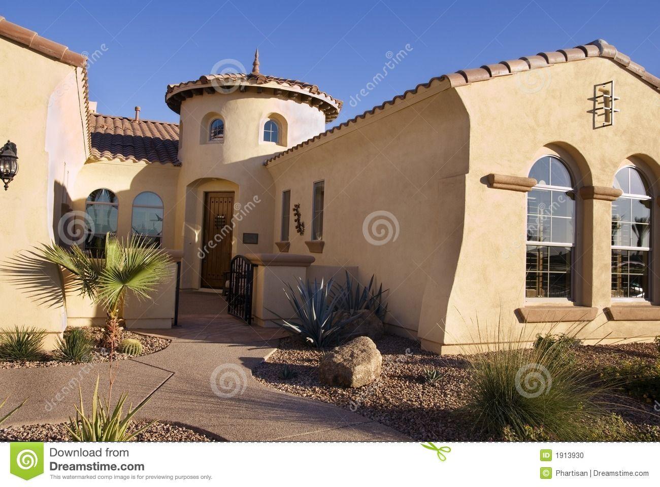 Southwestern Homes Southwestern Style Modern Home Stock