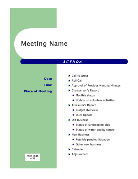 design meeting agenda template