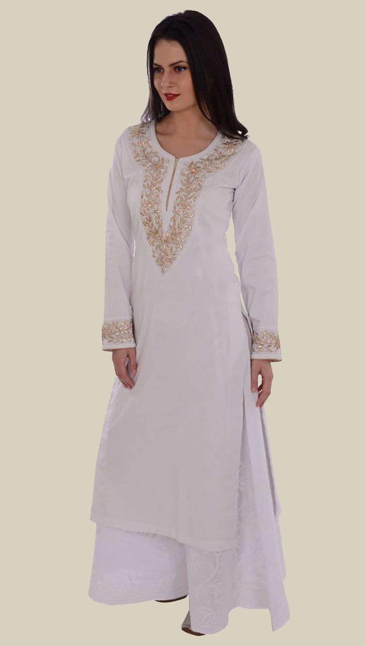 e52fe6085b013 Blue voile net amp cotton embroidered kurta with white tiedye sharara