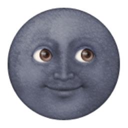 New Moon With Face Emoji U 1f31a Emoji Tumblr Stickers Tumblr Funny