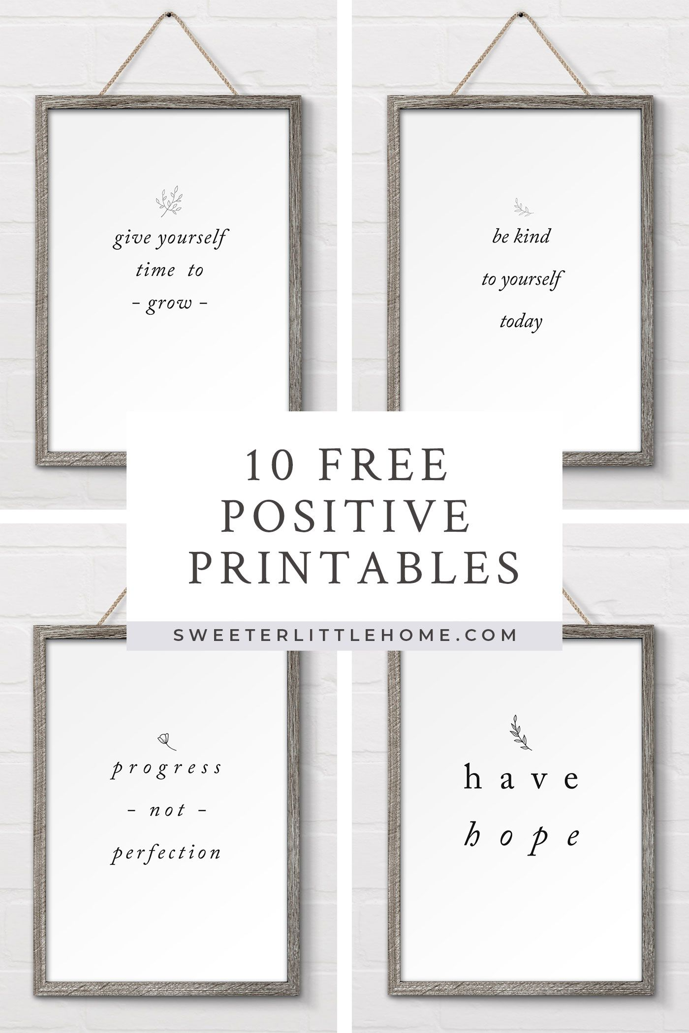 Sweeterlittlehome Com Nbspsweeterlittlehome Resources And Information Wall Printables Positive Wall Art Wall Art Quotes