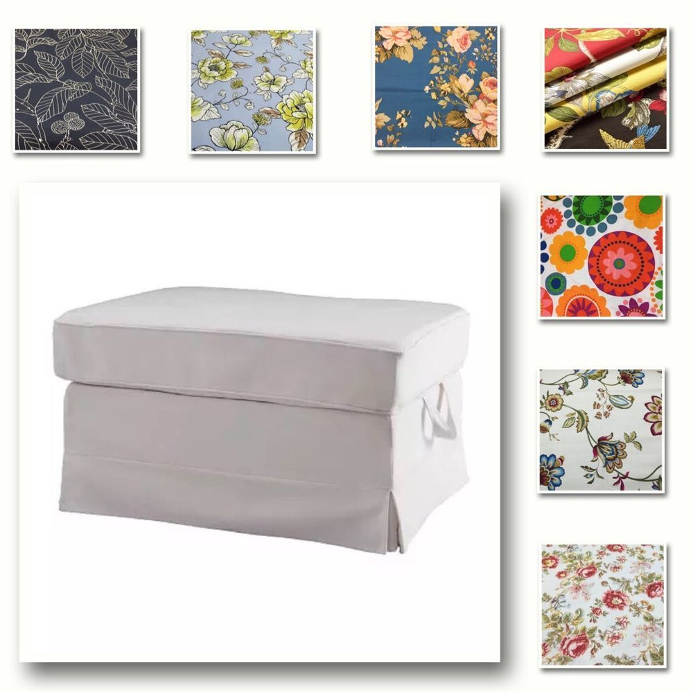 Custom Made Cover Fits IKEA Ektorp  Footstool, Ottoman Cover, Patterned Fabric | Home & Garden, Furniture, Slipcovers | eBay!