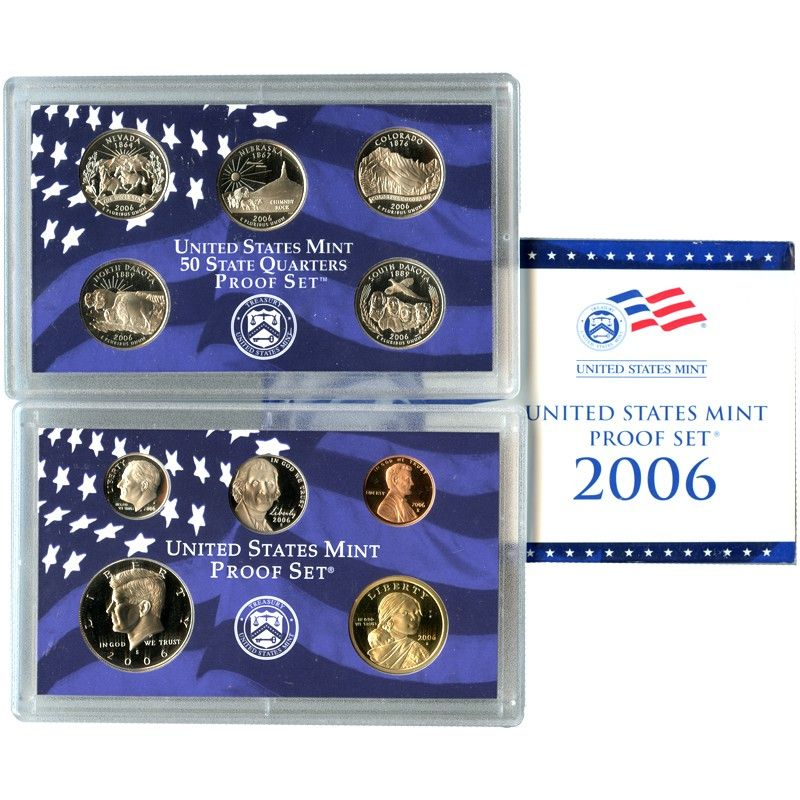 2006-S 10-Coin Proof Set including 5 State Quarters