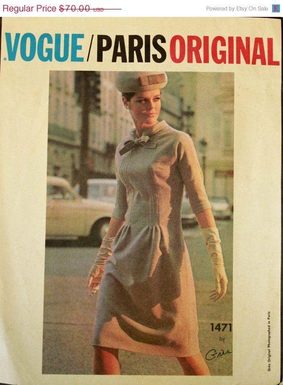 20%offNewYearsSale RARE Vogue Paris Original от EleanorMeriwether