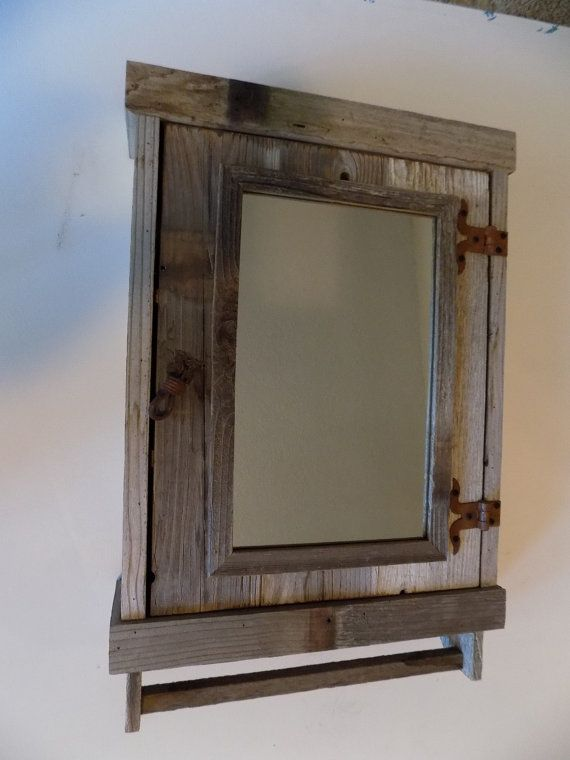Rustic Reclaimed Medicine Cabinet With Mirror Shabby Chicwhite