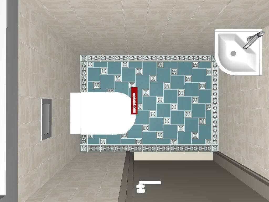 3d ontwerp toiletvloer mozaiek utrecht mozaiek.com toilet