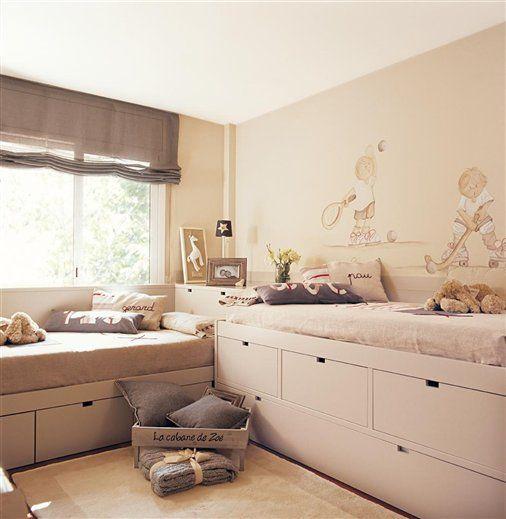 Casa tr s chic quartos para irm os bedroom - Dormitorios juveniles ninas ...