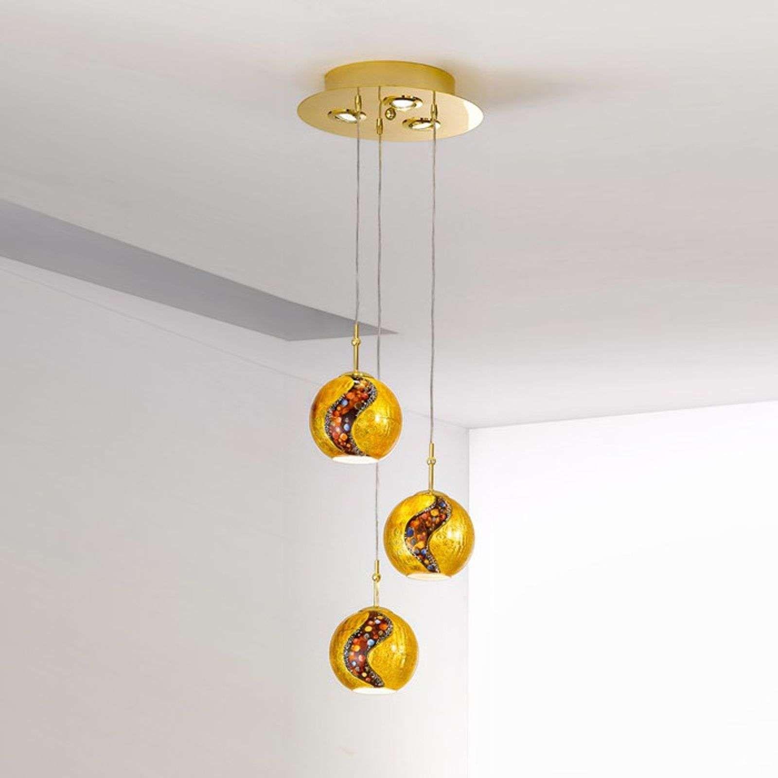 Hanglamp Lamp Hanglamp Aluminium Hanglamp Eetkamer Hanglamp Zwart Met Gouden Binnenkant Moderne Hanglampen Hanglamp Binnenverlichting Eetkamer Hanglamp
