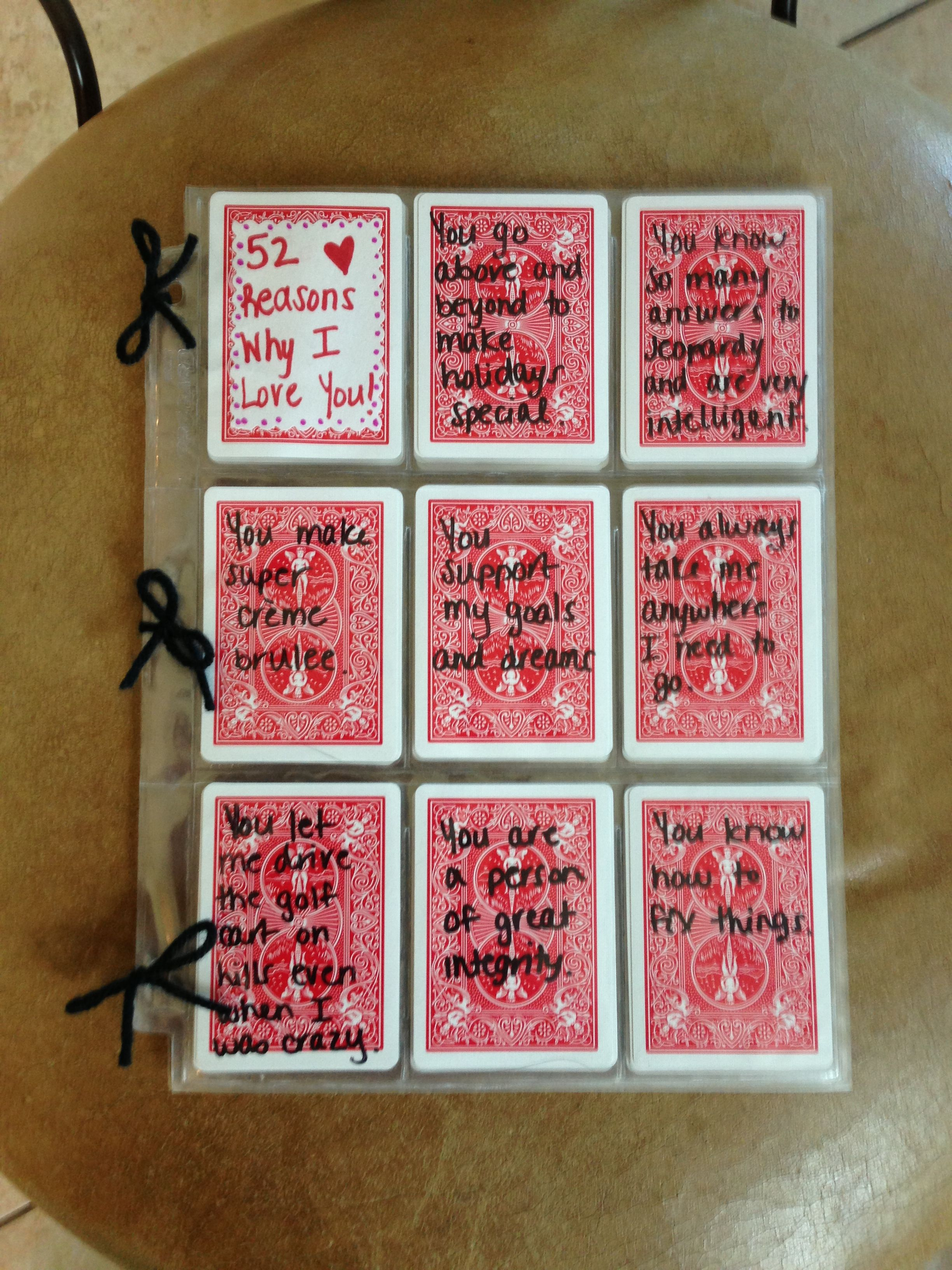 I Love You Crafts 52 Reasons I Love You Write Reasons With Sharpie On Cards And Put