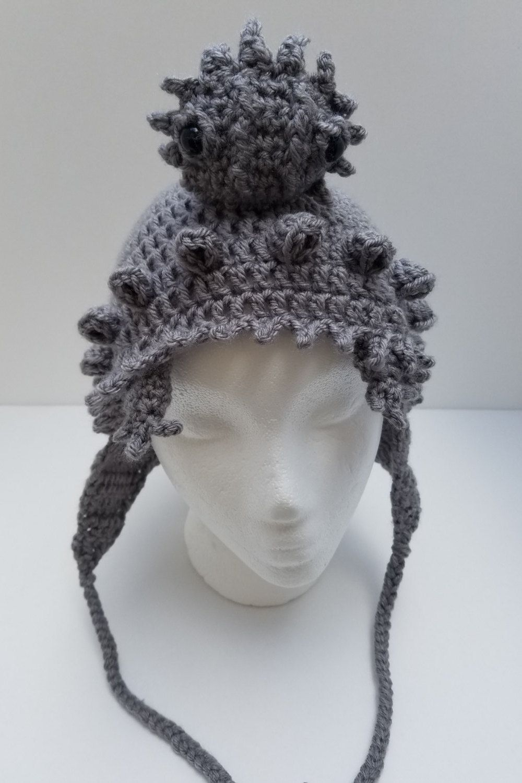Horny Toad Hat Crochet Pattern, Texas Horned Lizard Hat Crochet ...