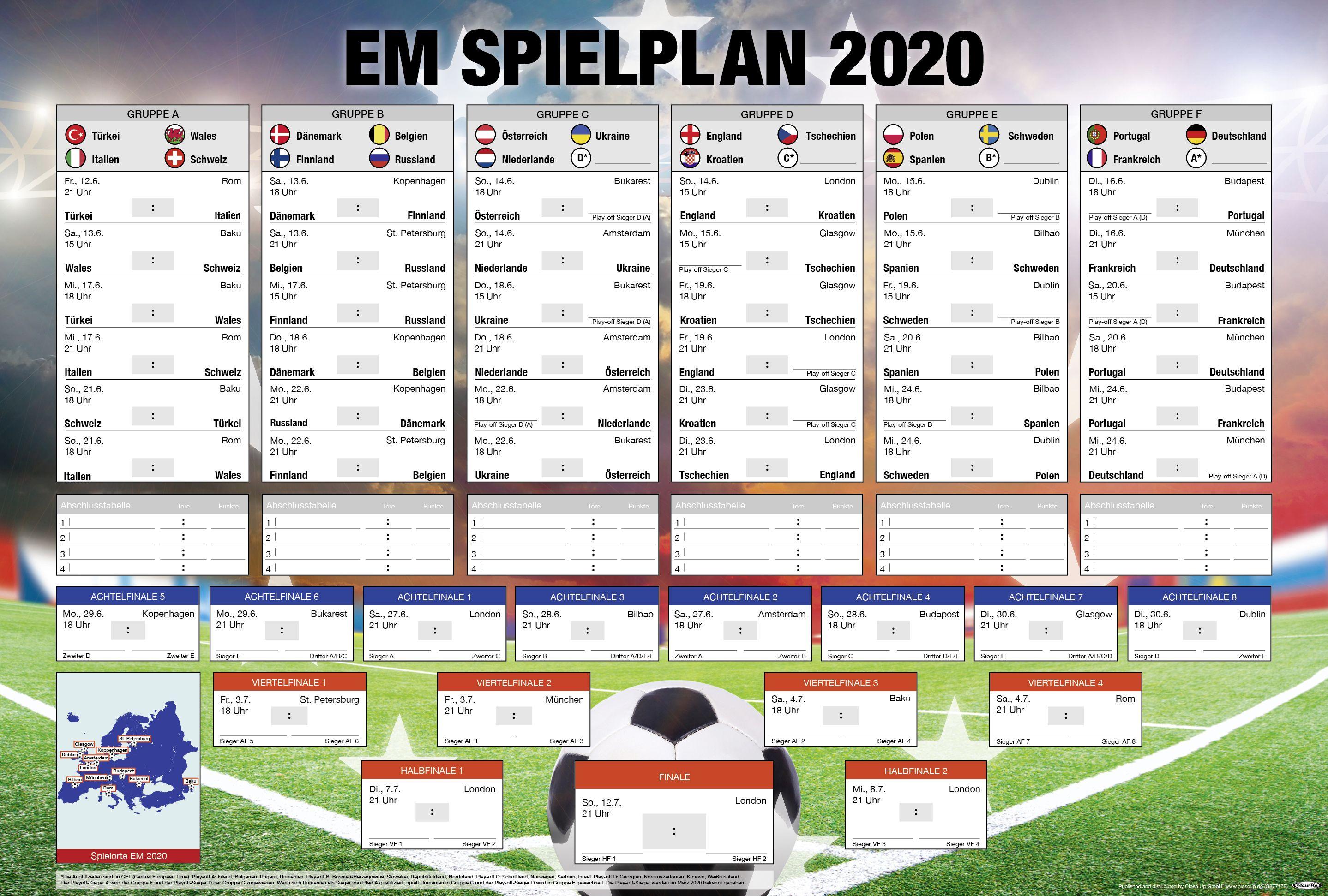 Deutscher Em Spielplan