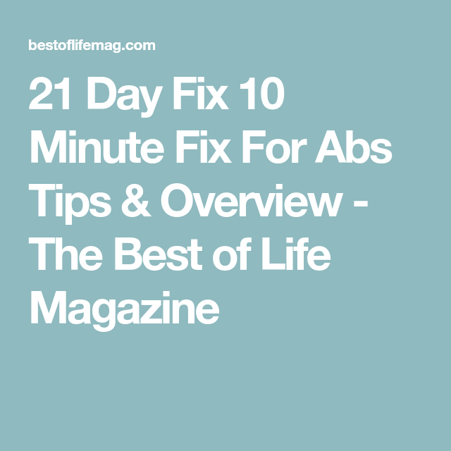 21 day fix - 10 minute abs exercises part 2   10 minute