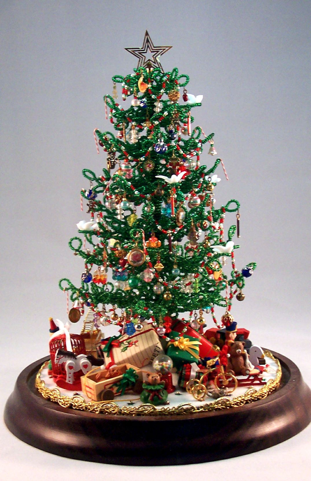 beaded miniature christmas tree miniature christmas trees mini christmas tree christmas decorations beaded - Miniature Christmas Decorations