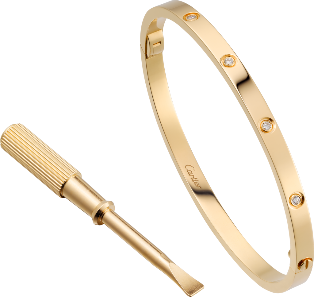 Love bracelet small model diamondsyellow gold diamonds my