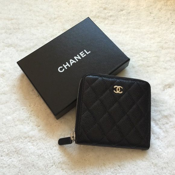 57f024f8b6aa CHANEL Small zip Wallet