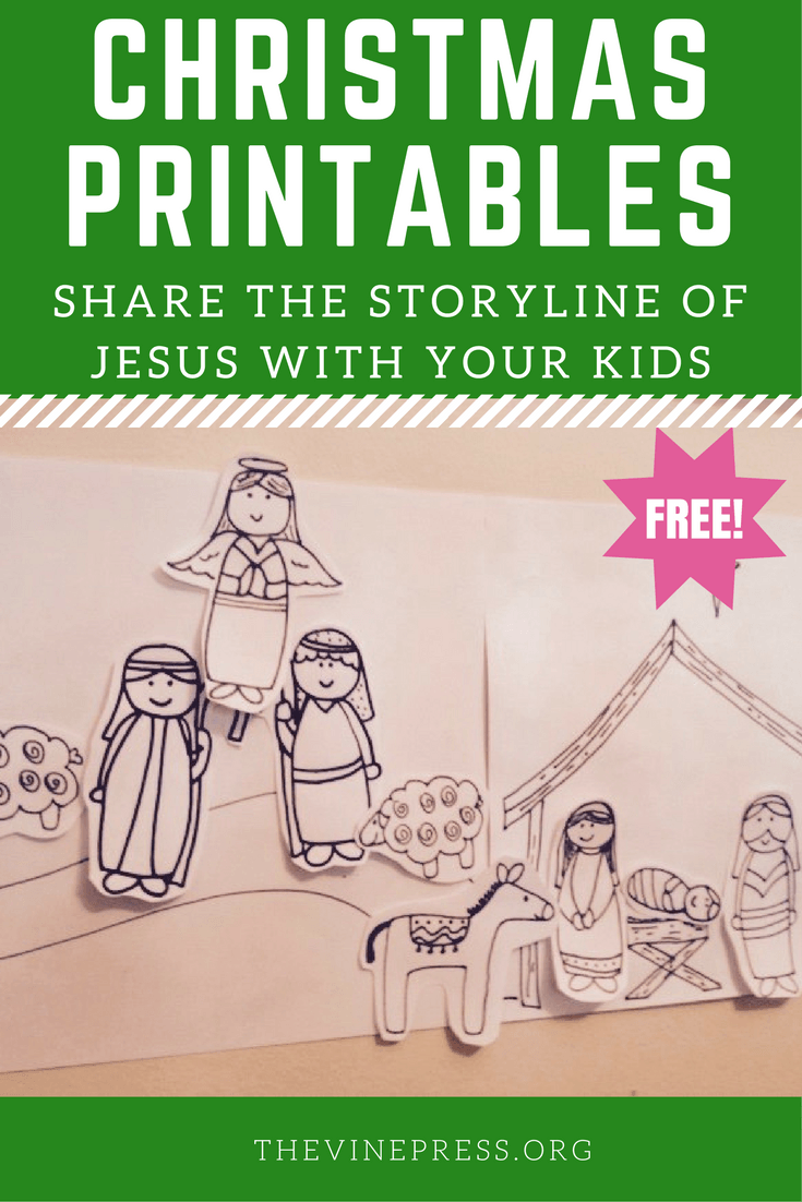 Free Advent Christmas Printables for Kids. Share the full storyline ...