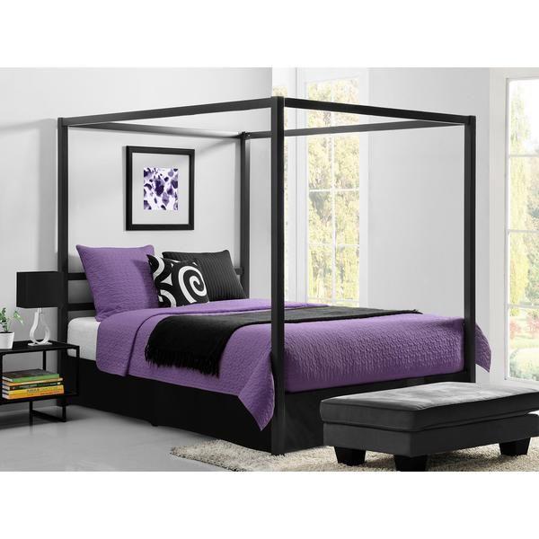 DHP Modern Grey Queen Canopy Bed | New Bedroom Ideas | Pinterest ...
