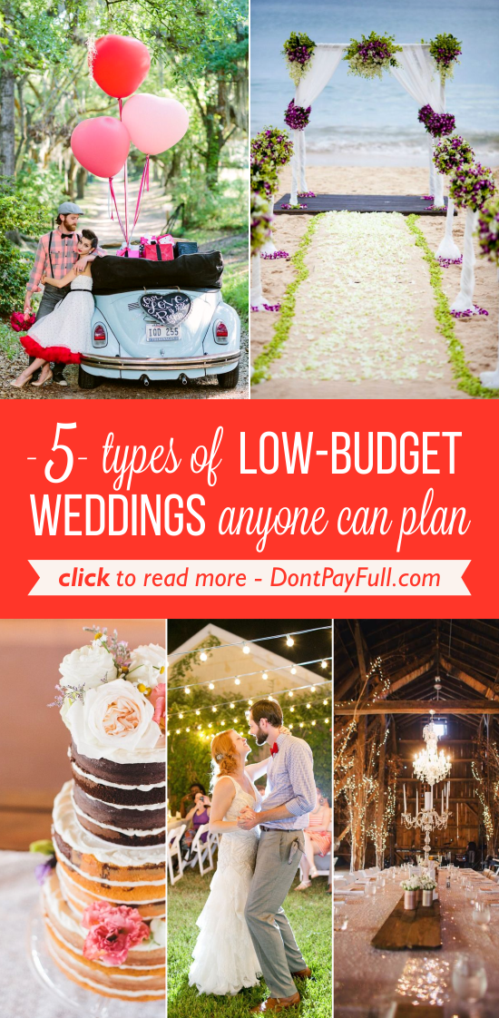 5 Types of LowBudget Weddings Anyone Can Plan Low