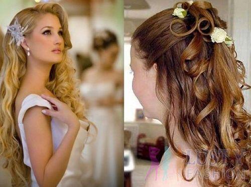Easy wedding hairstyles long hair curls
