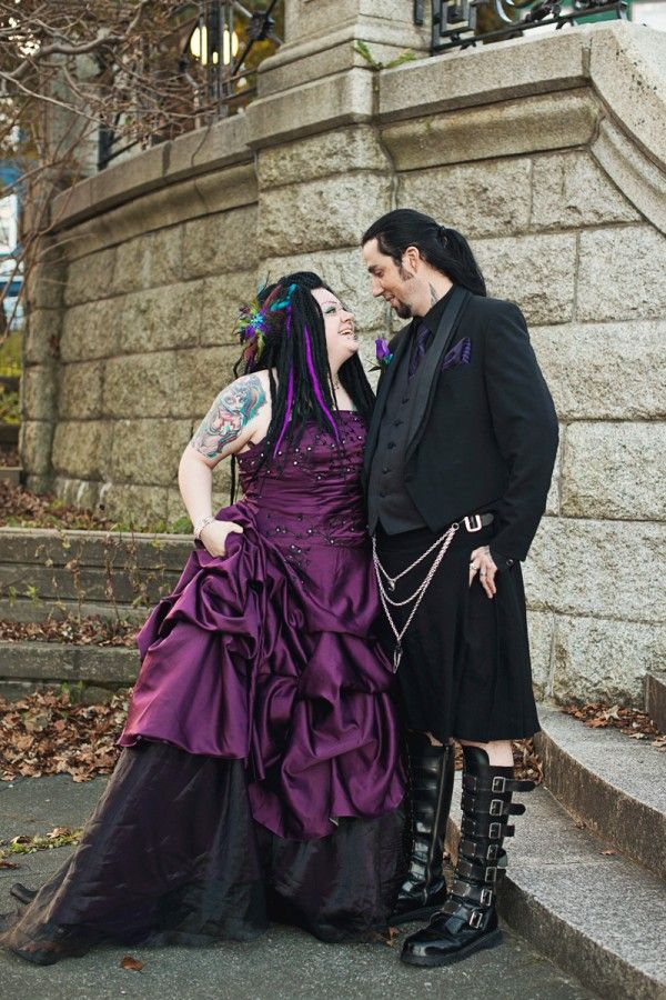 A colorful gothically delicious wedding in Newfoundland/// LOVE THIS WEDDING DRESS....