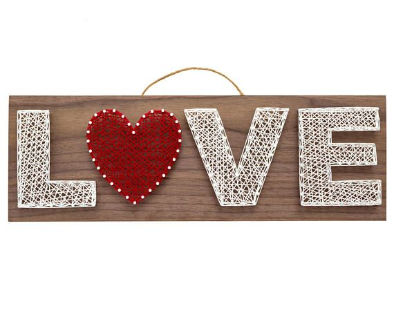 Love String Art Kit White Diy Kit Adult Crafts Teen Crafts