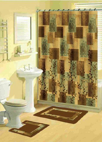 Home Dynamix Bath Boutique Shower Curtain And Bath Rug Set 331