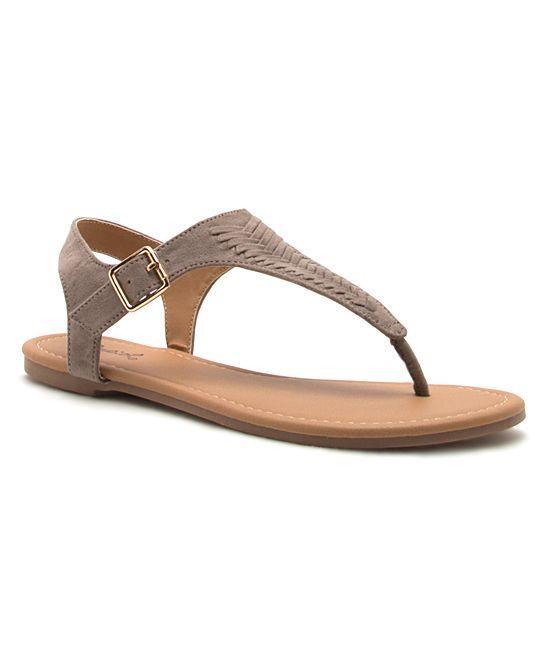 Taupe Braided Sandal