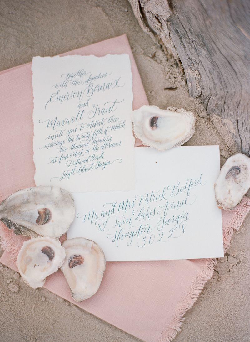 Intimate Wedding Inspiration On Driftwood Beach
