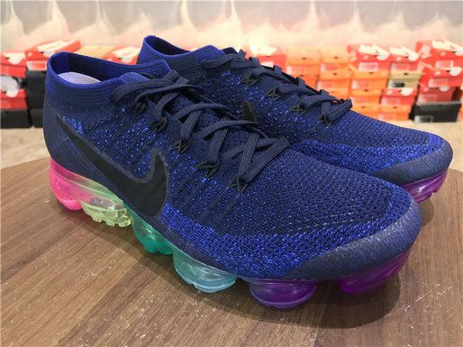 cd24c7fcb78 Factory Authentic 2018 Nike Air Vapormax Flyknit Be True 883274 400 Deep  Royal Blue White Concord