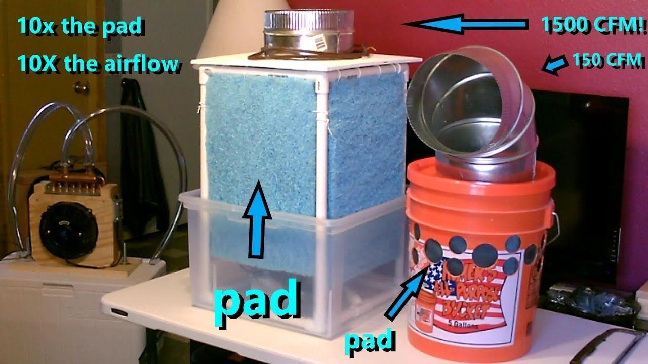 Diy evap air cooler best yet 1500cfm20mph 90fin64fout