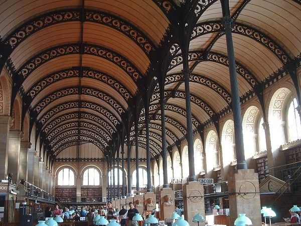 Bibliothèque Sainte Geneviève Is A Barrel Vault And Library That Was Built  From 1844 Until The Project Is Located In Paris ( Paris, Ile De France,  France, ...