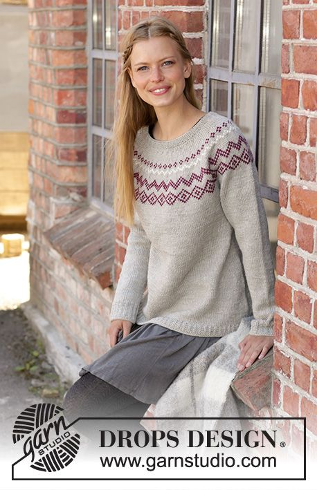 Photo of Old Mill Pullover / DROPS 197-4 – freie Strickmuster von DROPS Design