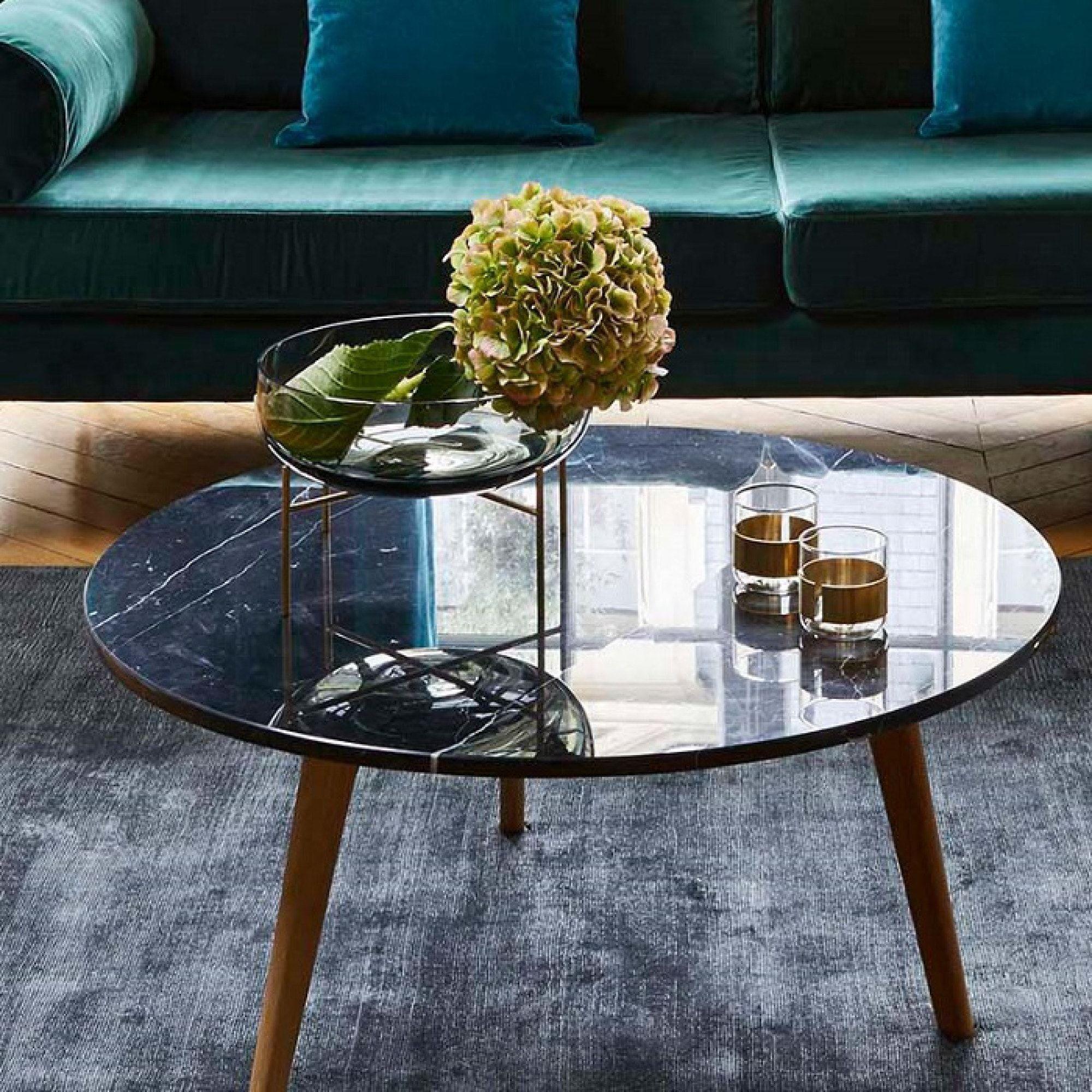 Table Basse Lara Noir Table D Appoint Mobilier Madura Table Basse Table Basse Marbre Table De Salon