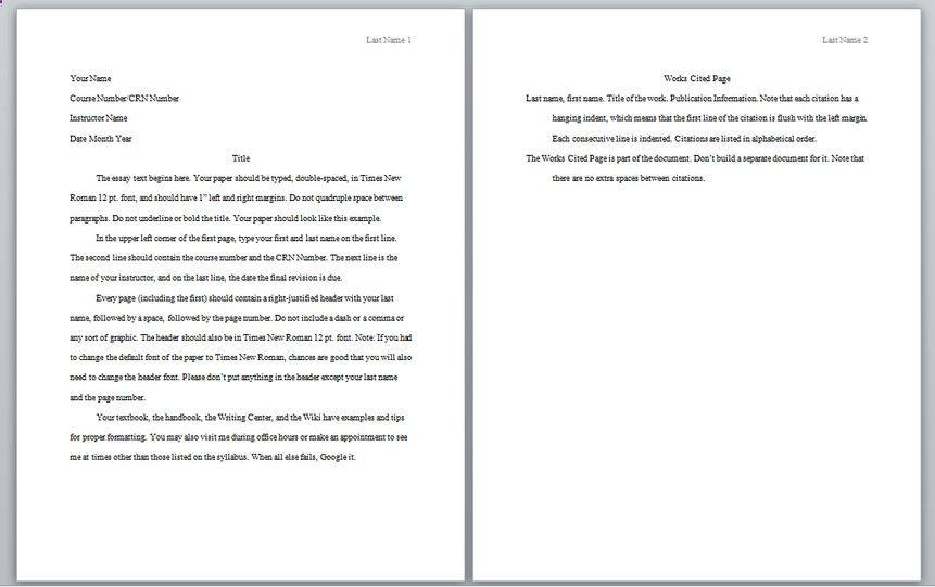 Apa Essay Paper Senate Term Length Format Short Style For Sample