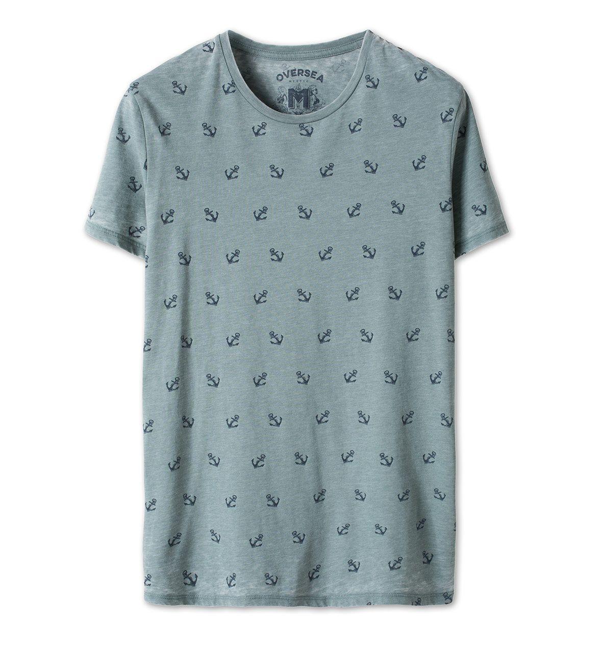 Camiseta estampada en verde