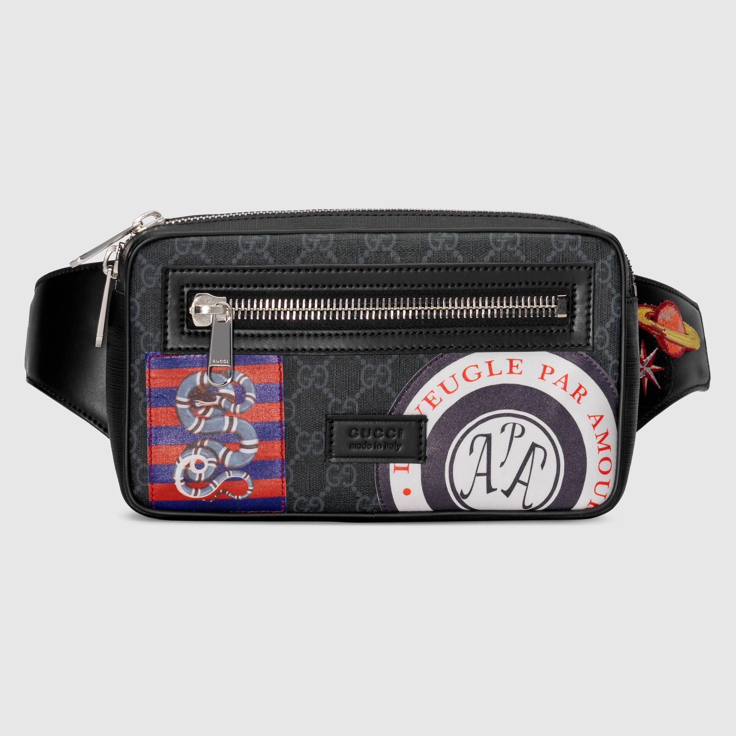 83c785465a8f Night Courrier soft GG Supreme belt bag - Gucci Men's Belt Bags  4742939IKEN8850