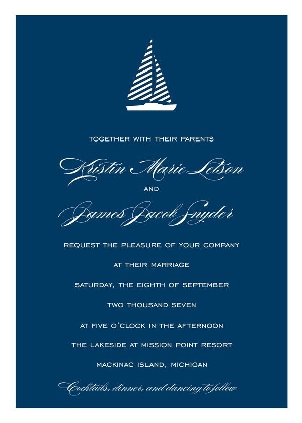 Cute nautical invitations! by Kleinfeld Paper | Kleinfeld Paper ...