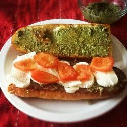 Make pesto using more affordable walnuts instead of pine nuts