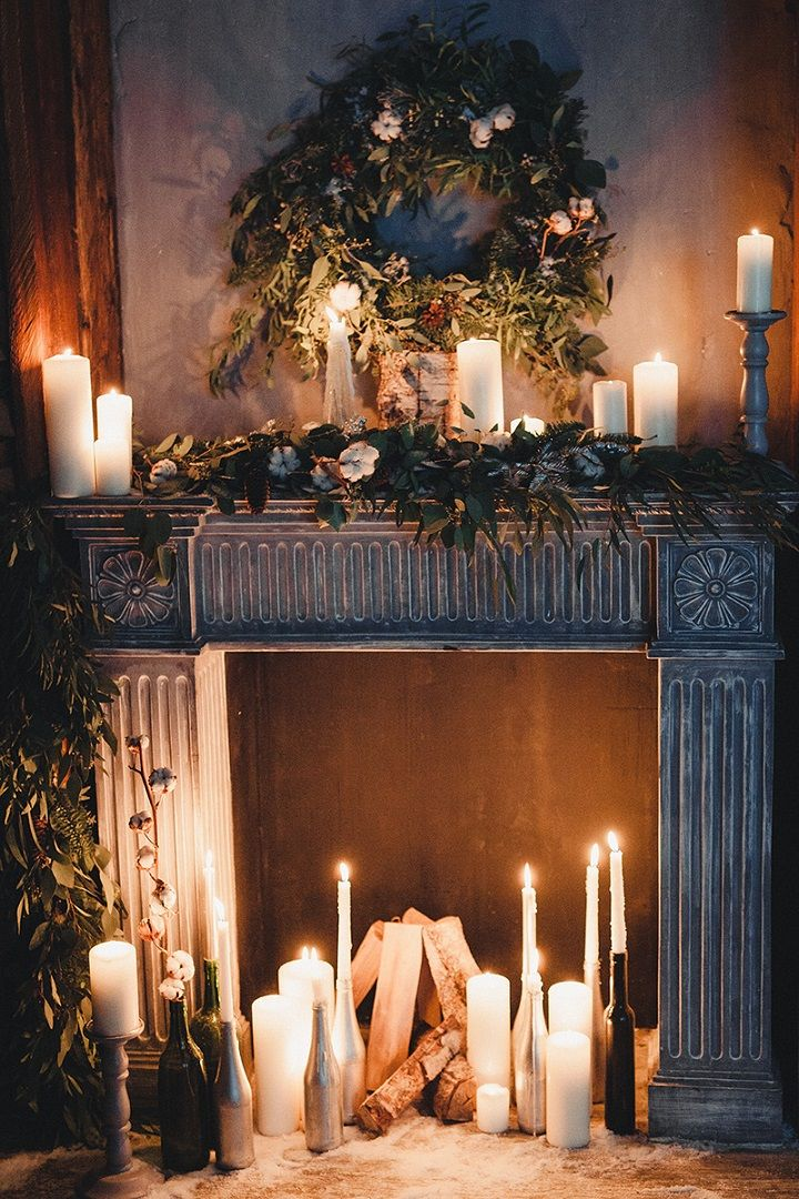 Rustic and cozy winter wedding styled shoot | Cozy winter wedding decorations with candles | fabmood.com #winterwedding #weddingdecorations #wedding #rusticwedding #winterweddingdecors