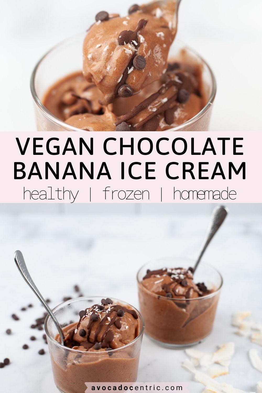 Banana Ice Cream Recipe Chocolate Vegan Avocado Centric Recipe In 2020 Banana Ice Cream Recipe Healthy Chocolate Recipes Recipes