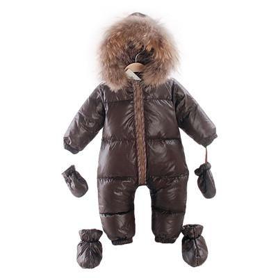 535d10b81 2018 winter natural fur rompers baby boy clothes newborn down ...