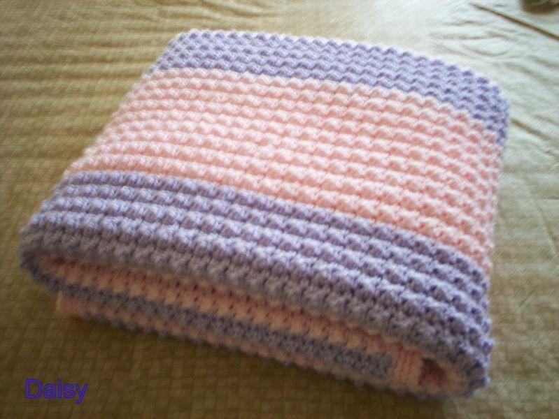 Tricot crochet couverture