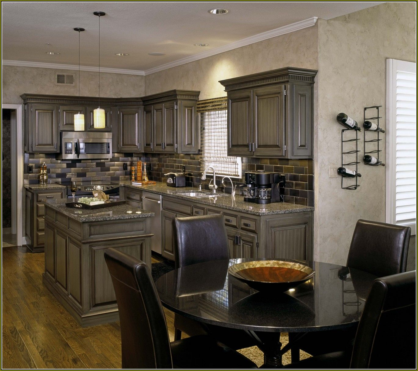 Bon Pickled Oak Cabinets Updated Home Design Ideas