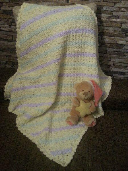 Babydecken Babydecke Pastellfarben C2c Gehäkelt Wolle Würfel Ein