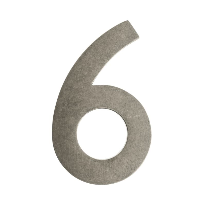 Architectural Mailboxes 3585 6 5 Inch Tall Solid Brass House Number 6 Antique Pewter Home Accents Address Numbers 6 Architectural Mailboxes Antique Pewter Floating House