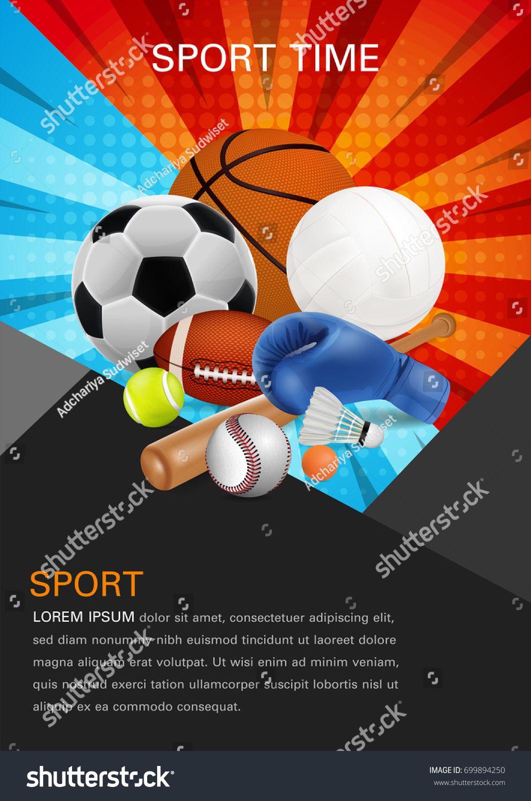 Sport Equipment Poster Design Front Page Web Design Brochure Design Template Vector Report Magazine Brochure Design Template Brochure Design Poster Design