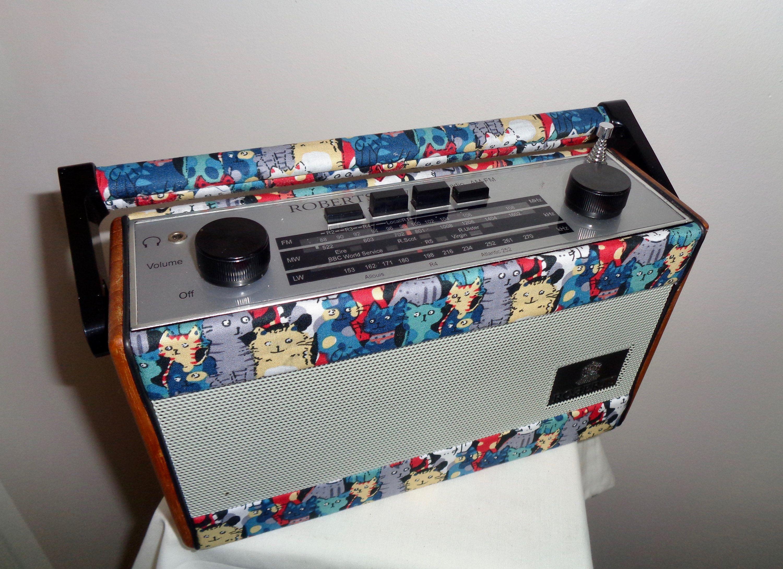 Roberts R757 MW/LW/FM Portable Cat themed Vintage Radio