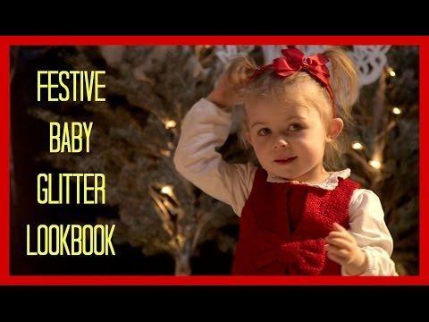 Mini Baby Glitter Christmas LookBook - YouTube