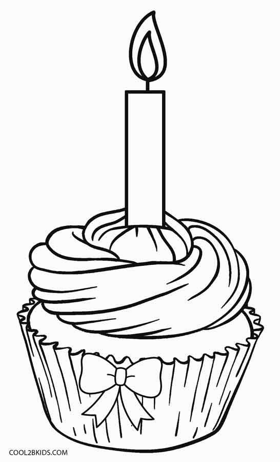Free Printable Cupcake Coloring Pages For Kids Cool2bkids Cupcake Coloring Pages Food Coloring Pages Happy Birthday Coloring Pages
