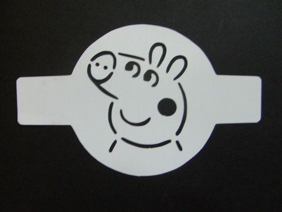 Peppa Pig Stencil Duster For Cakes, Cookies, Or Latte On